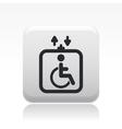 handicap elevator icon vector image vector image
