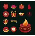 happy bhai dooj celebration hindu spiritual vector image vector image