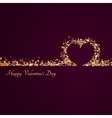 Happy valentine day background with hearts vector image vector image