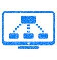 hierarchy monitoring grunge icon vector image vector image