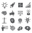 idea icons on white background vector image vector image
