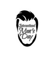 international mens day lettering graphic design vector image vector image