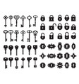 keys and keyhole logo collection modern and vector image vector image