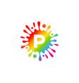 letter splash logo icon design vector image vector image
