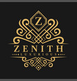 letter z logo - classic luxurious style logo vector image vector image