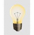 lightbulb on transparent background vector image vector image