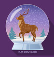 magic christmas glass globe vector image