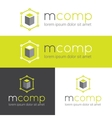 modern logo for web studio or finance company vector image