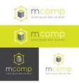 modern logo for web studio or finance company vector image