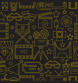 movie seamless pattern background vector image vector image