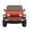 off-road vehicle jeep front vector image vector image