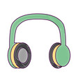 old vintage stereo headphones music vector image