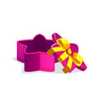 open purple star shaped gift box for games vector image