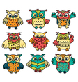 owl group vector image vector image