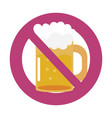 prohibited drink sign vector image