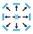 Push Directions Flat Icon Set vector image