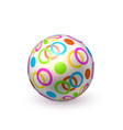 realistic beach inflatable dotted ball vector image vector image