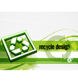 recycle baner background vector image vector image