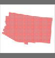 red dot map of arizona vector image vector image