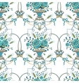 Retro seamless pattern with flowers vector image vector image