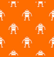 robot pattern seamless vector image vector image