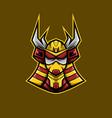 samurai ranger mascot e-sport logo vector image