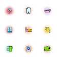 Sanitary appliances icons set pop-art style vector image vector image