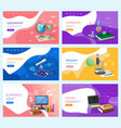 school subjects education and knowledge banners vector image vector image