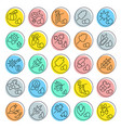set line icons seeds vector image