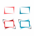 set of bright frames for text or banner vector image
