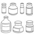 set of injection medicine vial vector image vector image