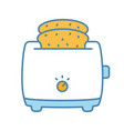 slice toaster with toast color icon vector image vector image