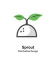 sprout outline flat vector image vector image