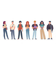 students group students in casual wear vector image