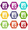 studio speakers icons set 9 vector image