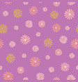 summer daisy repeat pattern on purple vector image vector image