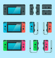 switch game console vector image vector image