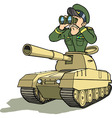 tank battle general vector image vector image