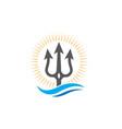 Trident logo template icon