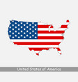 united states america usa map flag vector image