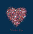 valentines bokeh heart many of transparent red vector image vector image