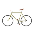 Vintage bicycle flat vector image vector image