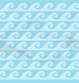 vintage seamless blue pattern from sea waves vector image vector image