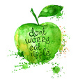Watercolor of isolated apple vector image vector image
