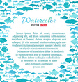 watercolour fish background vector image vector image