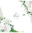 wedding invitation invite save date floral design vector image vector image