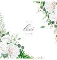 wedding invitation invite save date floral design vector image vector image