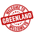 welcome to Greenland vector image vector image