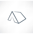 white tent vector image vector image