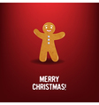 Xmas cookies With Red Background vector image vector image